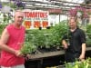 Jerry Soukal Sr. and Jerry Soukal Jr. and Tomato Plants