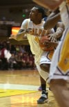 Valparaiso's LaVonte Dority drives against Loyola Marymount on Saturday.