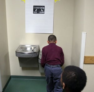 Segregated water fountains used to teach about civil rights movement