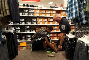 Shopping with a cop