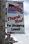 Lowell installs new promotional banners on Commercial Avenue
