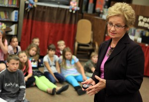 Indiana secretary of state visits Jackson Elementary students