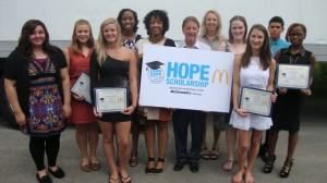 Local McDonald's operators and Food Bank of Northwest Indiana reward top students