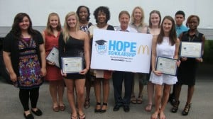 Local McDonald's operators and Food Bank of Northwest Indiana reward top students