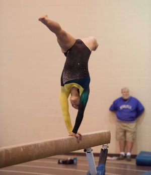 Maxwell gains following as the only gymnast for Morgan Twp.