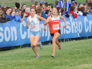 Strong finish powers LaPorte's Lancioni to third place at girls cross country state finals