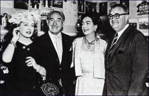 Bette Davis, Jack Warner, Joan Crawford and Bob Aldrich Press Conference July 18, 1962