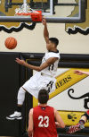 Griffith's Anthony Murphy dunks against Portage on Friday night.