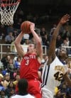 Munster senior Joe Crisman shoots over
