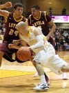 Valparaiso University's Will Bogan drives