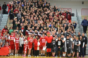 Crown Point High School Bulldogs participate in Special Olympics basketball game