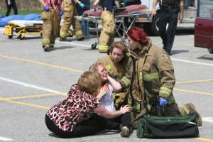 Hobart officials stage fatal crash to send sobering message to high school students