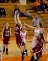 Hanover Central junior Ashley Cooley shoots during Saturday's game at Wheeler.