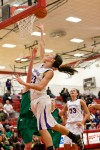 Hobart's Kara Cooke is fouled as she puts up a shot during Wednesday's game.