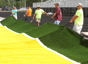 Griffith residents, players, eagerly await completion of new football turf