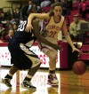 Crown Point's Courtney Kvachkoff drives