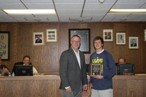 Michael 'Spike' Albrecht presented with Community Inspiration Award