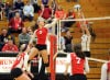 Championship match of the Munster girls volleyball sectional
