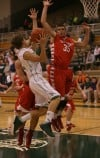 Valparaiso's Bret Boetel meets resistance from Crown Point's Alex Nickla and Bret Barclay
