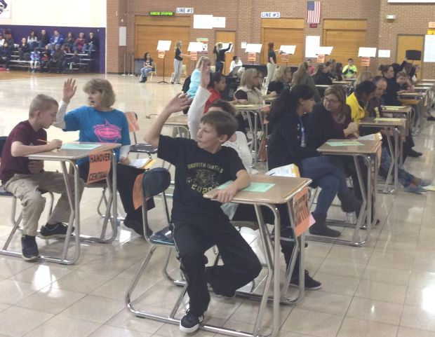 Middle school teams compete at area spell bowl