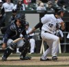 The White Sox's Conor Gillaspie bats against the Seattle Mariners on Saturday.