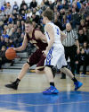 Chesterton junior Chris Palombizio, left, tries to get by Lake Central senior Chris Tuskan during a Duneland Conference basketball game Friday night at Lake Central.