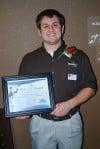 Denis Jedrysek of Microtel Hotal, Michigan City, wins R.O.S.E. award