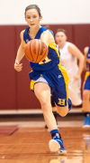 Highland's Sierra Hinkel chases after a loose ball