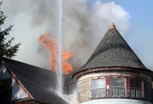 Valpo firefighters battle blaze at Jefferson and Lafayette