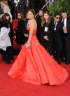 Chilly Golden Globes carpet gets haute in red