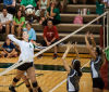 Chesterton's Jessica Urycki goes up for a spike attempt