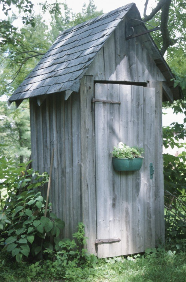 Outhouses smokehouses bomb shelters oddball spaces are for Outhouse pictures