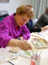 Crete library patrons enjoy acrylic painting class