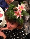 "Jillian Van Volkenburgh of Highland Sporting Winning Alligator-Themed ""Floridian"" Hat at 2014 WANISS Brunch"