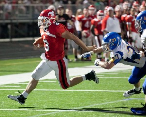 Mustangs stampede over rival Highland