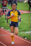 Thornwood's Deandra Stokes competes in the 100 meters at Saturday's Carol Urich Invitational.