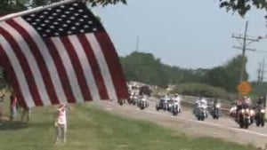 Veterans lead memorial procession