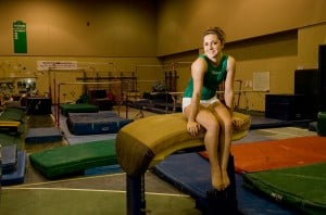 Valpo gymnast Algozine reaches for higher heights this season