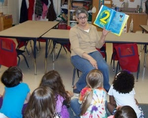 Preschool teacher ends 24-year career with reception