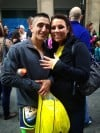 Hobart marathon man proposes to girlfriend