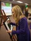 Library holds surprise gallery opening for Hammond artist