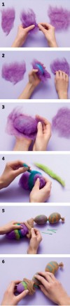 felted eggs Easter craft