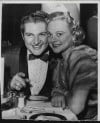 Liberace with Ice Skater Sonja Henie at Mocambo Nightclub in 1955