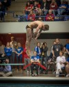 Griffith's Alex Rosales placed fourth in diving at Saturday's finals.