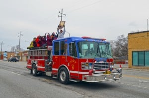 Bowman Academy's state-champion boys basketball team with parade, victory rally