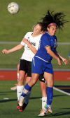 Bloom's Jazmin Aldape and Lincoln-Way North's Bianca Galassini