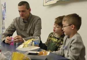Valpo mayor, firefighters join students for National School Breakfast Week