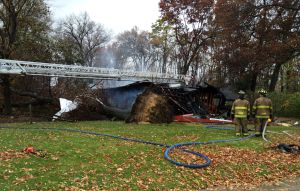 Portage firefighters battle Venus Avenue house fire