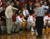 Andrean coach Carson Cunningham has words with referee Tom May