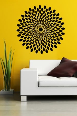 Decals can transform a wall cheaply, easily
